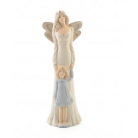 Ceramika figurka Łucja z dziewczynką 31c