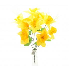 Kwiaty sztuczne bukiet żonkili 44cm