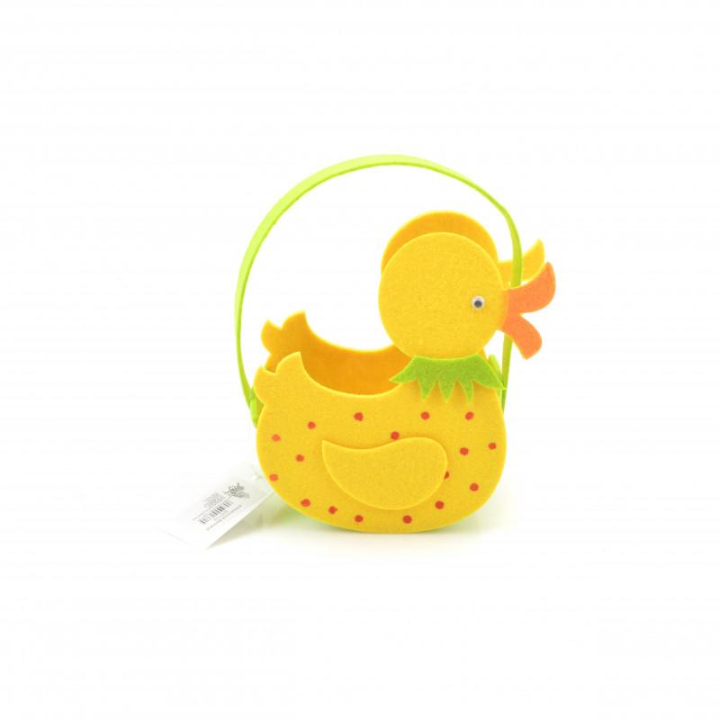 Wielkanoc filcowa torebka KACZKA 19x14x7