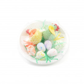 Wielkanoc KURY z jajkami (talerz)