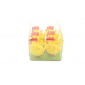 Wielkanocne kurczaki 4cm (opak 6)