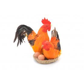 Пасхальная курица и петух