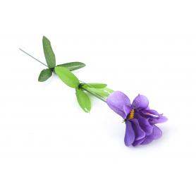 Kwiaty sztuczne pojedynczy irys 50cm