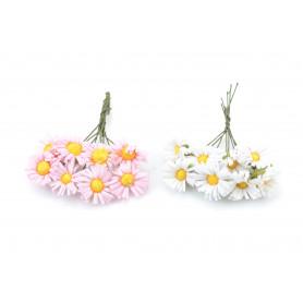 Искусственные цветы: маргаритки