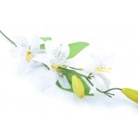 Искусственные цветы: веточка лилии
