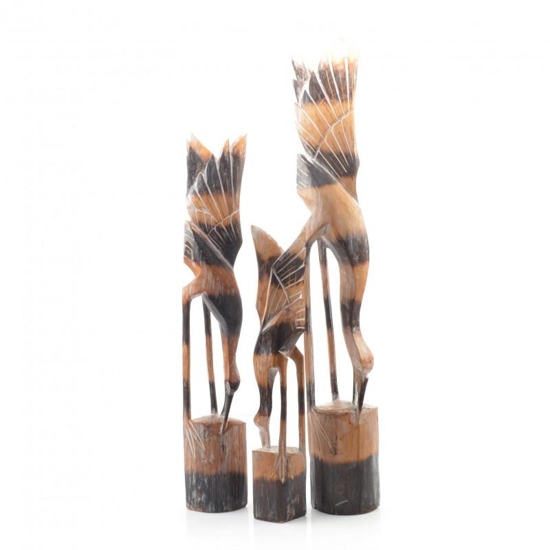 Drewniane 3 ptaki 100/80/60 cm