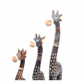 Drewniany kpl.żyrafy 60/50/40cm