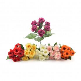 Kwiaty sztuczne róże bukiet 34cm