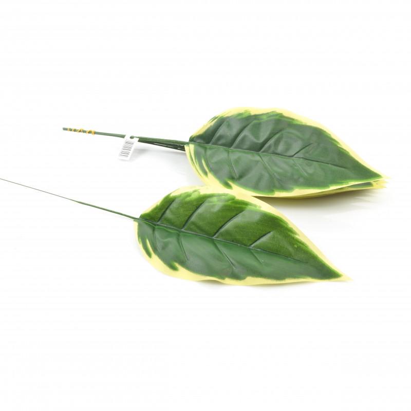 Kwiaty sztuczne liść pojedynczy 43cm