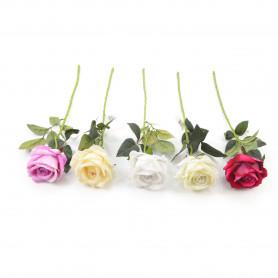 Kwiaty sztuczne róża pojedyncza 51cm