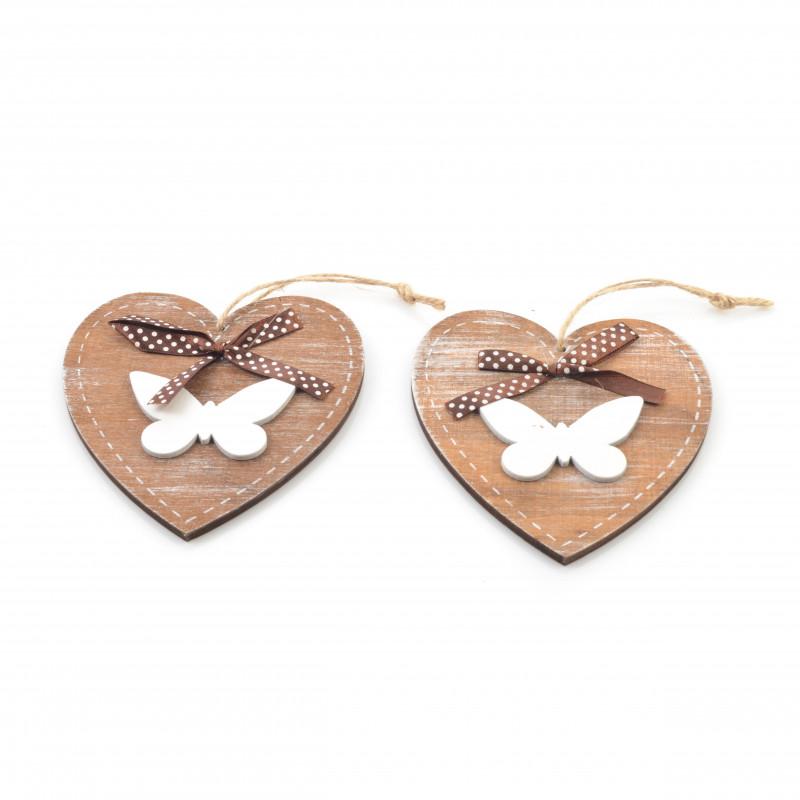 Drewniana zawieszka serce 12x11cm
