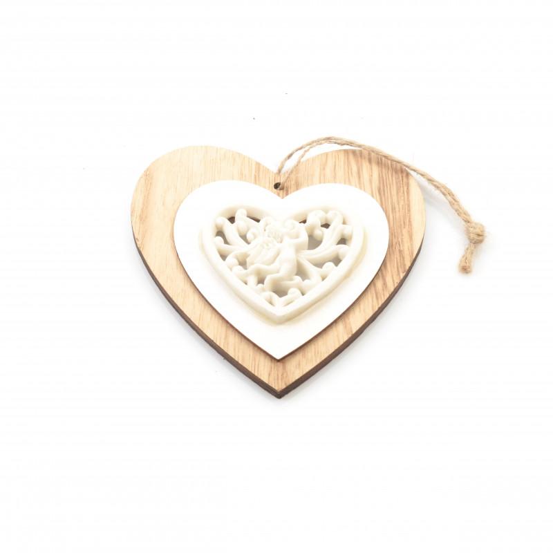 Drewniana zawieszka HEART 12cm