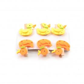 Wielkanocne klipsy z filcu opak MIX  4cm