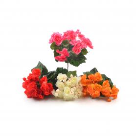 Kwiat sztuczny begonia 29cm stelaż 7