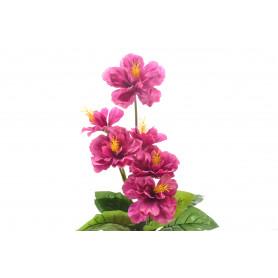 Kwiat sztuczny hibiskus bukiet 58cm