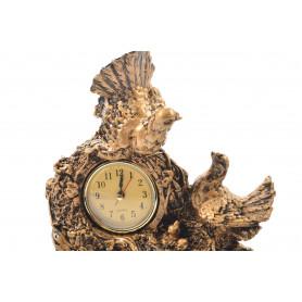 Zegar kominkowy złoty z gołębiem