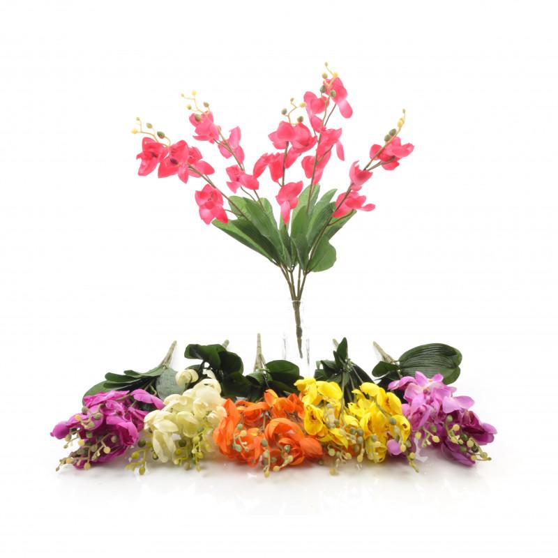 Kwiaty sztuczne bukiet storczyk 53cm