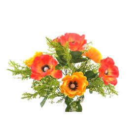 Kwiaty sztuczne bukiet anemon 33 cm