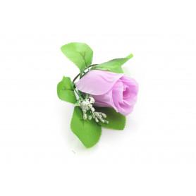RÓŻA PĄK Z LIŚCIEM (wyrobowa)-Kwiaty sztuczne