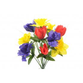 Kwiaty sztuczne bukiet wiosenny mix 49cm