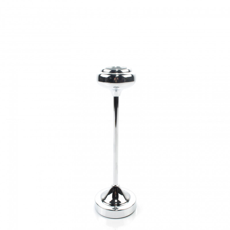 Metal srebrny świecznik 34 cm