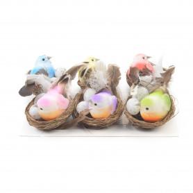 Wielkanoc ptaki gniazdo 10,5 cm (opak)
