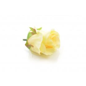 Kwiaty sztuczne róża wyrobowa 6,5x5cm