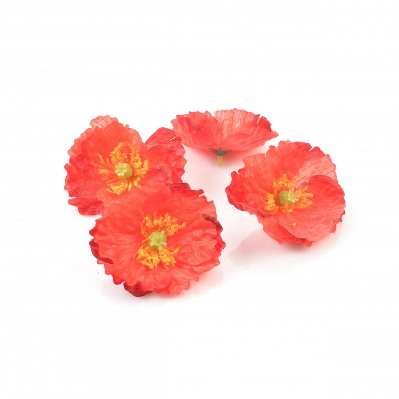 Kwiaty sztuczne mak wyrobowy opak.24szt.